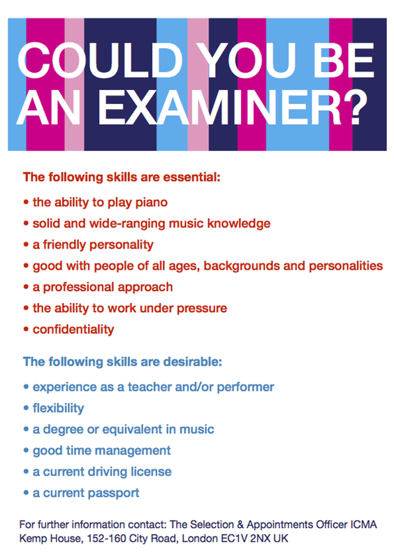 Become an examiner